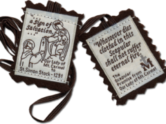 wear a brown scapular