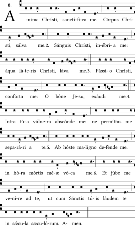 anima christi in Latin