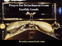 prayer for detachment from earthly goods
