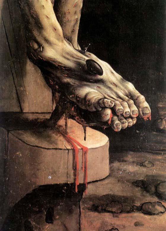pierced feet of jesus